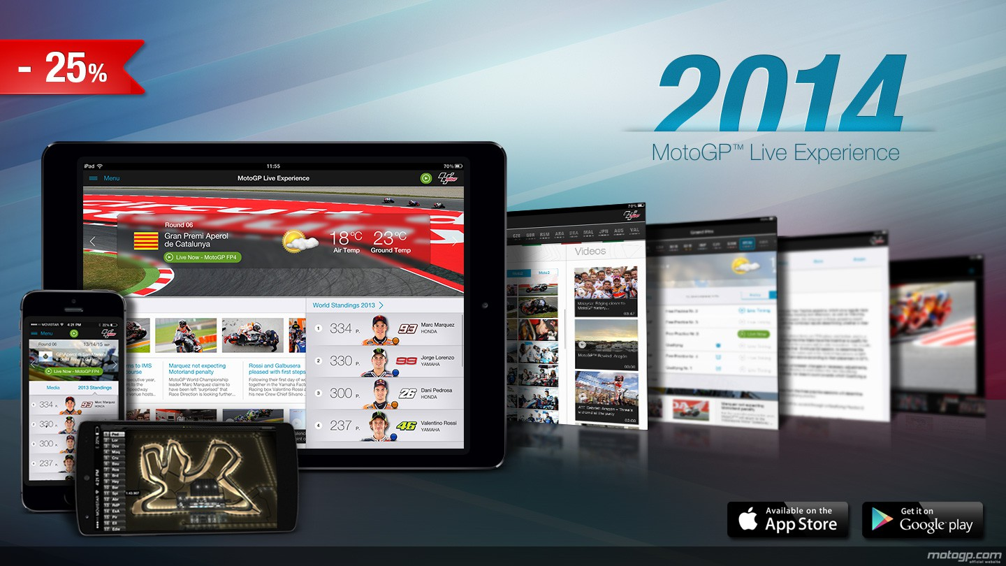 The 2014 MotoGP™ Live Experience App now available now with 25% off - John McPhee Official ...
