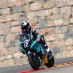 John enjoying his first taste of Moto2 action at Aragon