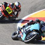 John takes an impressive 20th in positive Moto2 debut at the #AragonGP