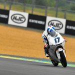 Solid start for John at soaking Le Mans
