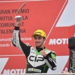 John takes podium finish in rain-hit Valencia finalé